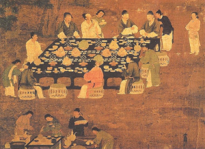 Scholars dine in style under the previous dynasty!